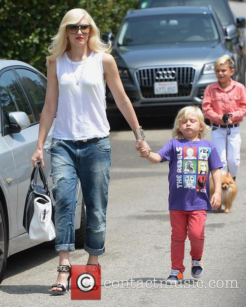 Gwen Stefani, Zuma Rossdale and Kingston Rossdale 2