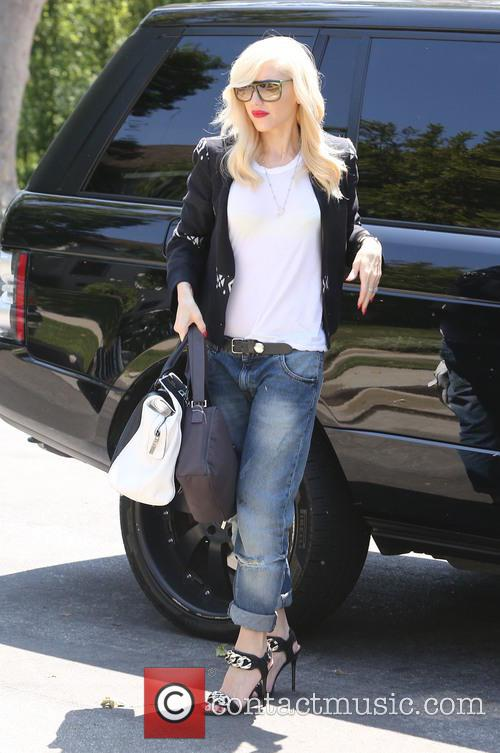 Gwen Stefani visits her mother's house with her...
