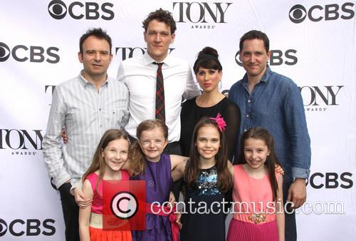 Matthew Warchus, Gabriel Ebert, Lesli Margherita, Bernie Carvel, Sophia Gennusa, Milly Shapiro, Oona Laurence and Bailey Ryon