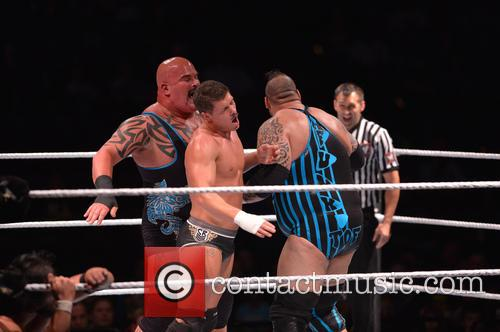 WWE Live at BB&T Center in action during...