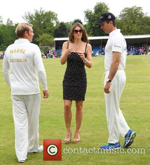 Elizabeth Hurley, Shane Warne and Michael Vaughn 2