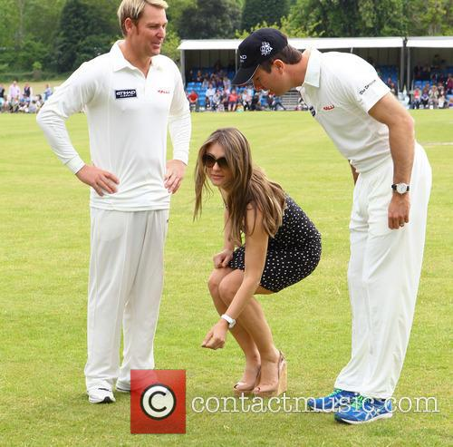 Elizabeth Hurley, Shane Warne and Michael Vaughn 3