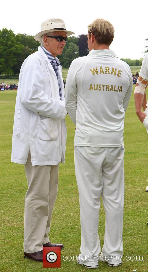Shane Warne and David Gower 5