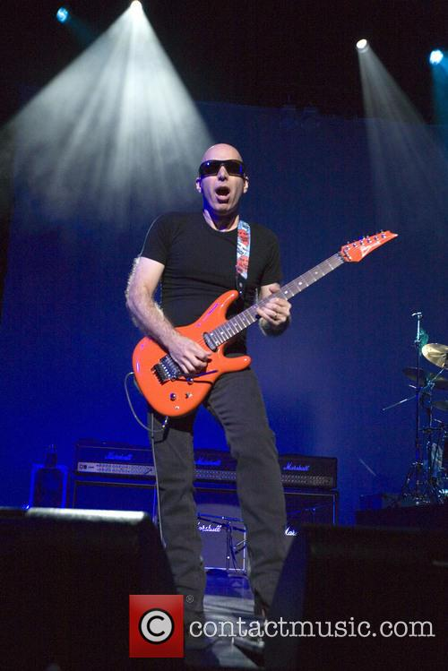 Joe Satriani performs live on stage at the...