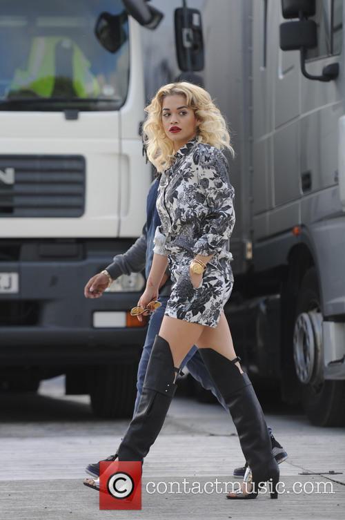 Rita Ora Back Stage