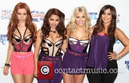 Una Healy, Vanessa White, Mollie King and Frankie Sandford Of The Saturdays 6