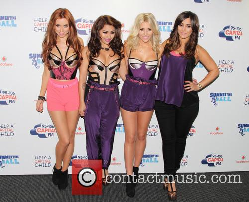 Una Healy, Vanessa White, Mollie King and Frankie Sandford Of The Saturdays 7
