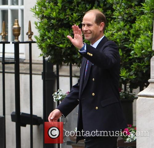 Prince Edward leaving the London Clinic