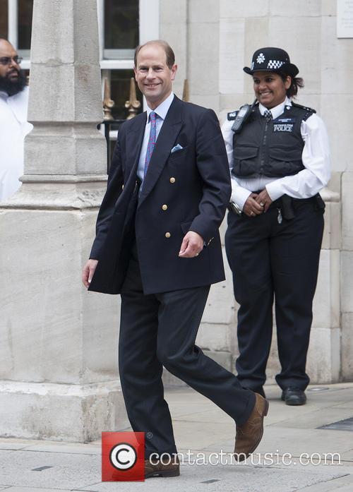 prince edward prince edward leaves the london 3712899