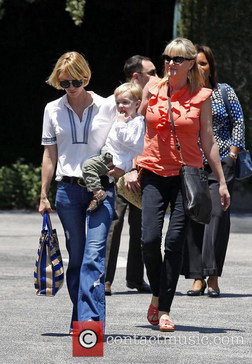 January Jones, Xander Jones and Karen Jones 1