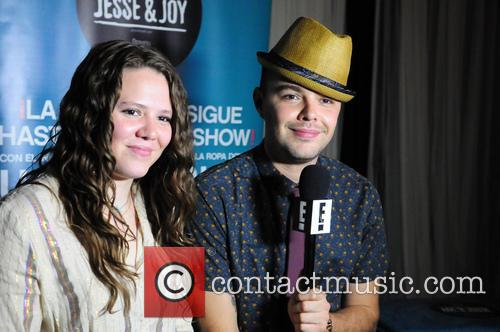 Brother and sister pop duo 'Jesse & Joy'...