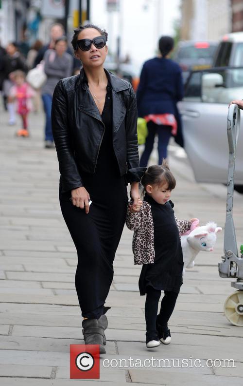 Myleene Klass walking in north London