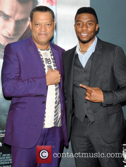 Laurence Fishburne and Chadwick Boseman 5