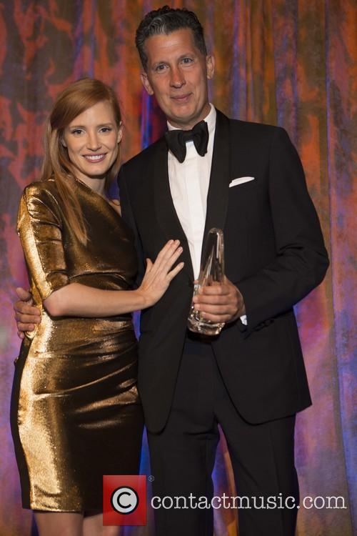 Jessica Chastain and Stefano Tonchi 3