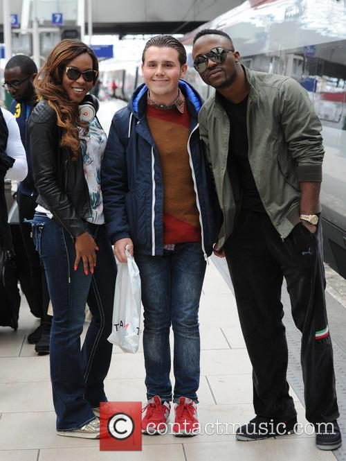 Iyanya Kukere and Emma Nyra arrive at station
