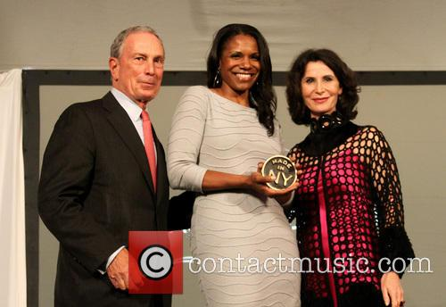 Mayor Michael Bloomberg and Audra McDonald 1