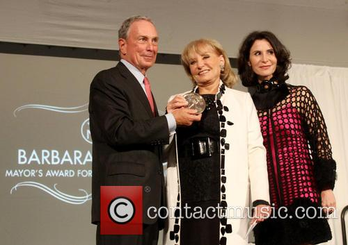 Mayor Michael Bloomberg and Barbara Walters 9