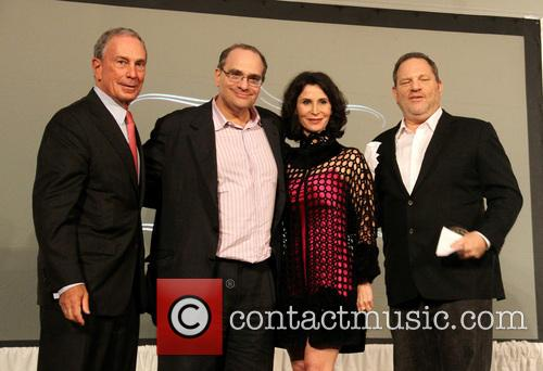 Mayor Michael Bloomberg, Bob Weinstein and Harvey Weinstein 3