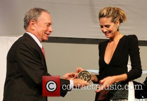 Mayor Michael Bloomberg and Heidi Klum 2