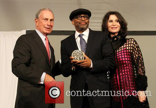 Mayor Michael Bloomberg and Spike Lee 4