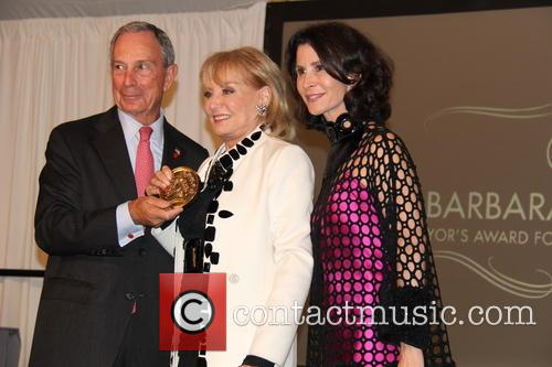 Mayor Mike Bloomberg, Barbara Walters and Nyc Film Commissioner Katherine Oliver 6