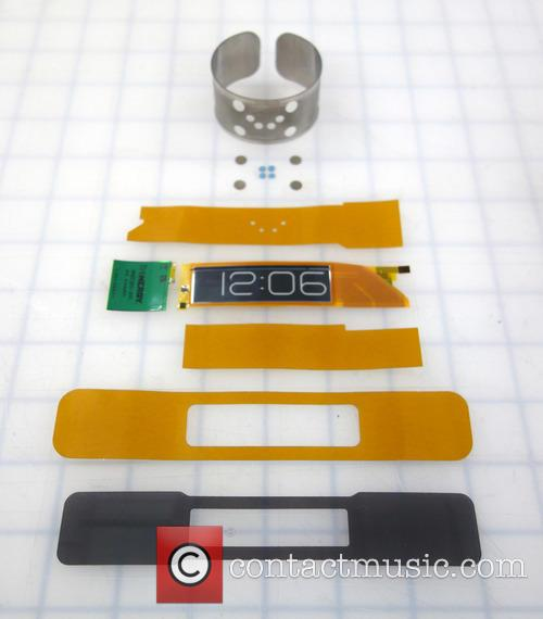 A 0.80mm thin flexible wristwatch -with an E...