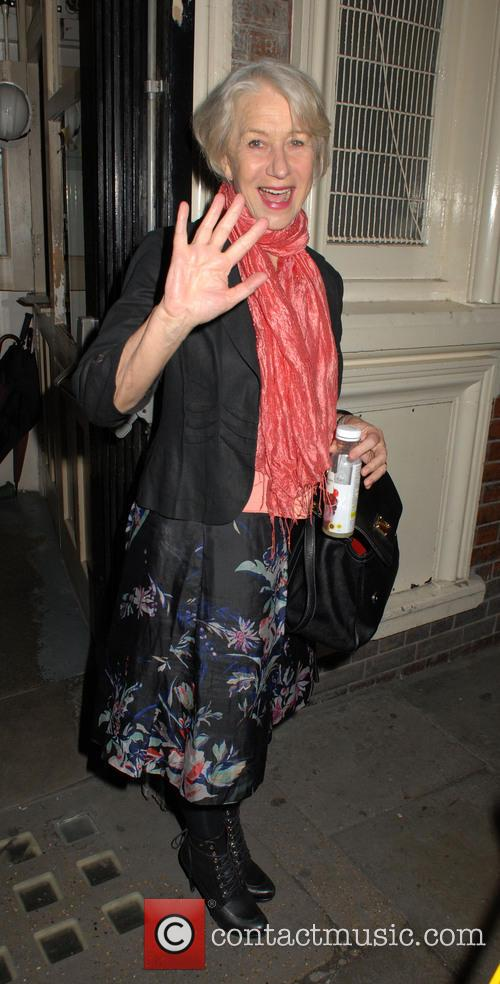 Helen Mirren Leaving The Gielgud Theatre