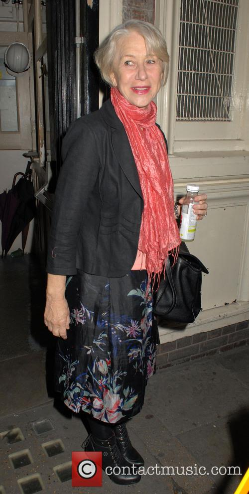 Helen Mirren Leaving The Gielgud Theatre