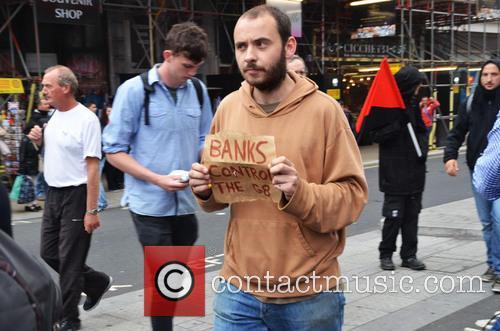 Anti-capitalist demonstrators against the G8 summit