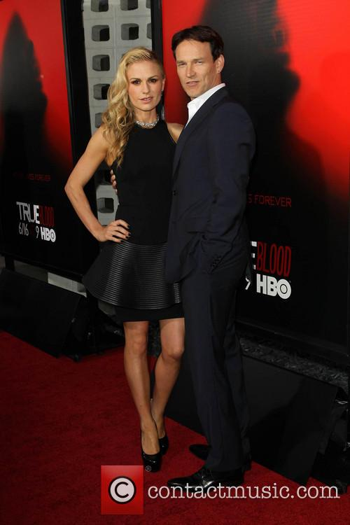 Stephen Moyer, Anna Paquin, True Blood Premiere