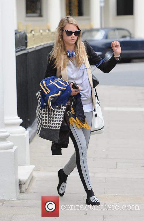 Cara Delevingne seen out and about in Chelsea
