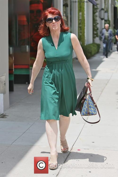Kate Flannery seen leaving the Mac store