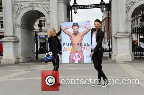 Rylan Clark and Meg Matthews take part in...