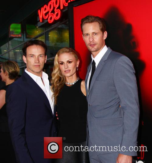 Stephen Moyer, Anna Pacquin and Alexander Skarsgard