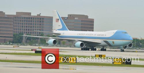 President Barack Obama, Air Force One, Miami International Airport