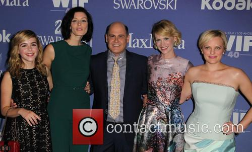 Kiernan Shipka, Jessica Paré, Matthew Weiner, January Jones and Elisabeth Moss 11