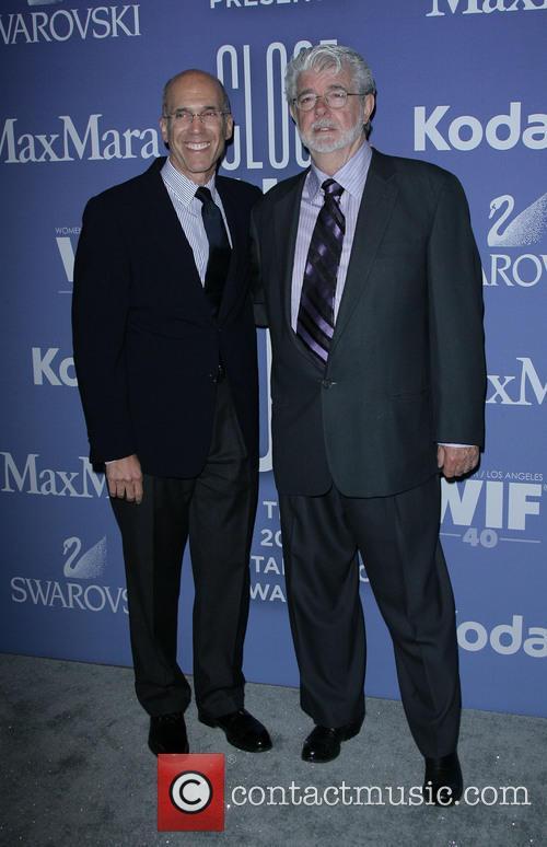 Jeffrey Katzenberg, George Lucas, Beverly Hilton Hotel