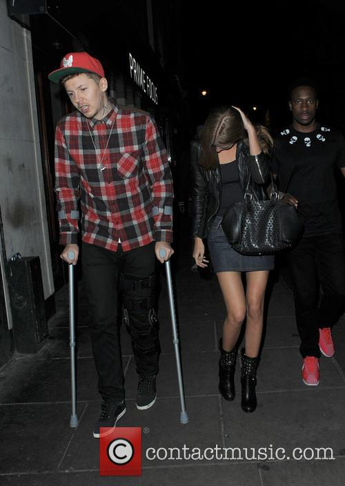 Professor Green and Millie Mackintosh leaving the Groucho...