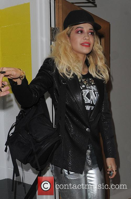 Rita Ora returns home with her sister Elena