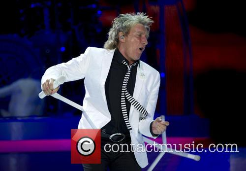 Rod Stewart performs in concert