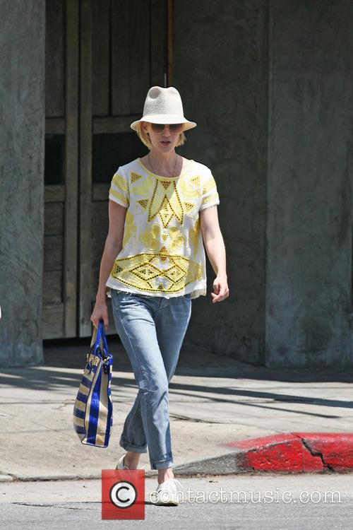 January Jones leaving Little Dom's restaurant