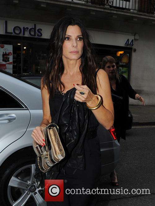 Sandra Bullock arrives at 34 Restaurant