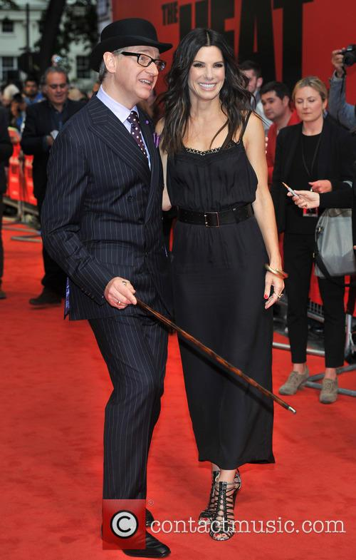 Director Paul Feig and Sandra Bullock 1