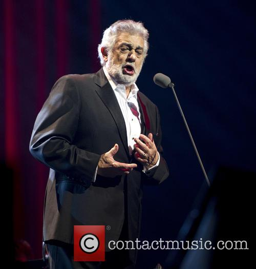 Placido Domingo performing in concert