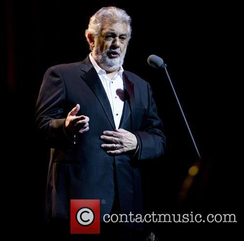Placido Domingo performing in concert