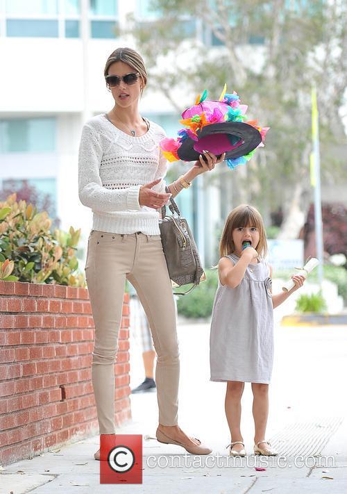 Alessandra Ambrosio celebrates her daughter Anja's Nursery school...