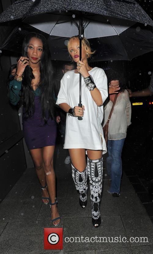 Rihanna makes a late night visit to Cuckoo...