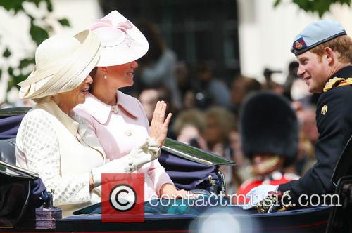 Catherine, Duchess Of Cambridge, Kate Middleton, Camilla, The Duchess Of Cornwall and Prince Harry 9