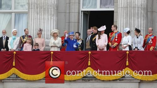 Prince Harry, Catherine, Duchess of Cambridge, Kate Middleton, Camilla, The Duchess of Cornwall, Princess Eugenie, Prince Andrew, Duke of York and Princess Beatrice 5