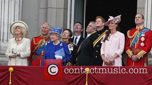 Queen Elizabeth II, Prince Harry, Catherine, Duchess of Cambridge, Kate Middleton, Camilla, The Duchess of Cornwall, Princess Eugenie, Prince Andrew, Duke of York, Princess Beatrice